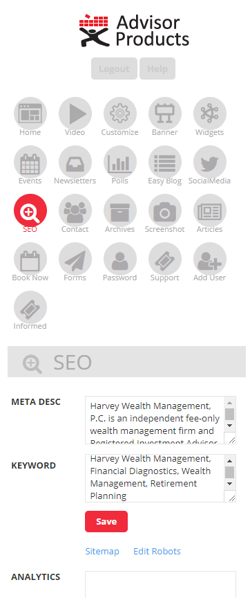 Financial advisor websites + seo friendly content - Advisor